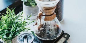 Chemex pour-over coffee pot