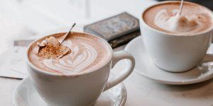 doppio coffee ceramic cups with art