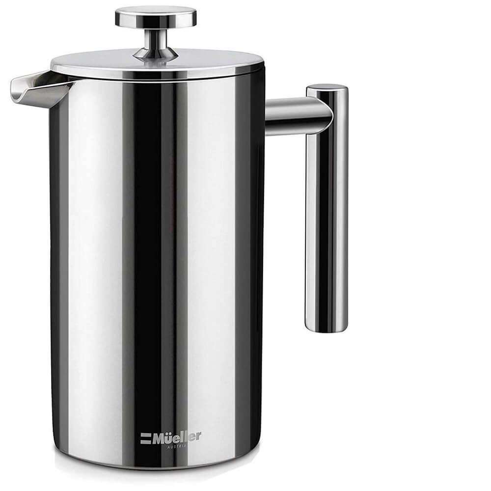 Mueller French Press Double Insulated 310 Stainless Steel Dishwasher Safe Coffee Maker
