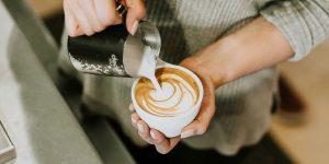 latte art in the making