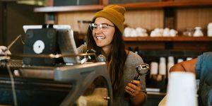 barista holding a portafilter