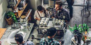 a busy coffee shop