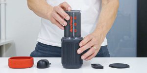 AeroPress with detached parts
