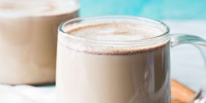 a mug of snickerdoodle latte coffee drink