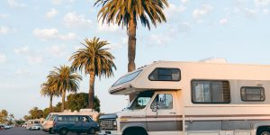 Parked RV on the street
