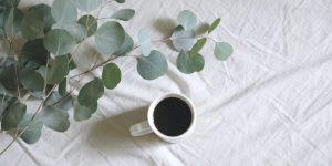 Plain black coffee
