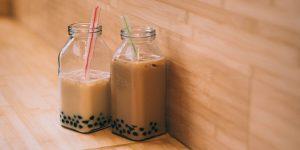 2 boba milk tea