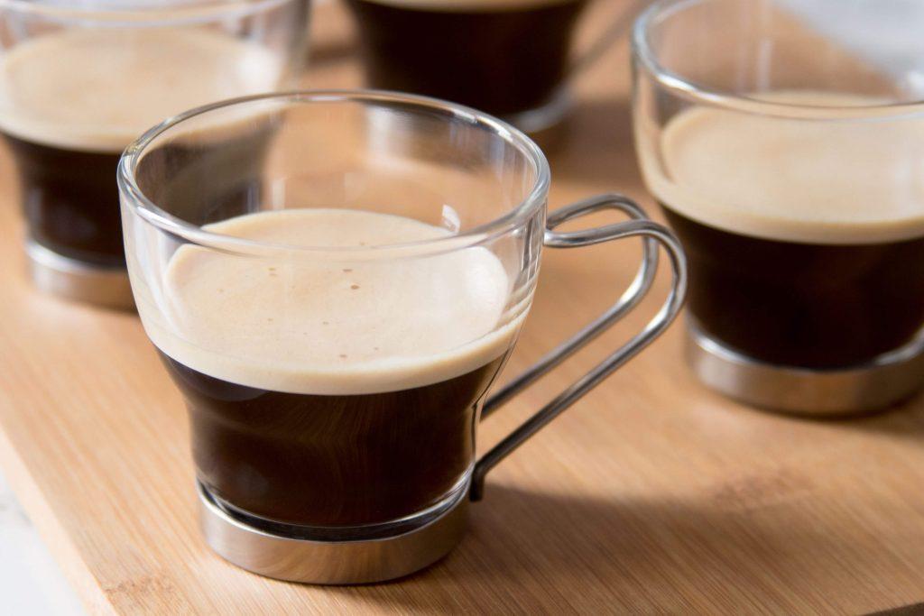 three black coffee