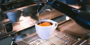 espresso pouring from an espresso machine