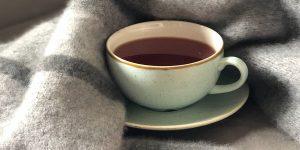 A cup of dark roast coffee