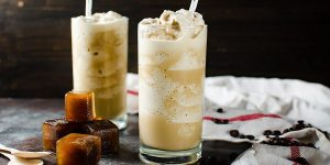 coffee milkshake with coffee ice