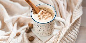 coffee with chocolate powder