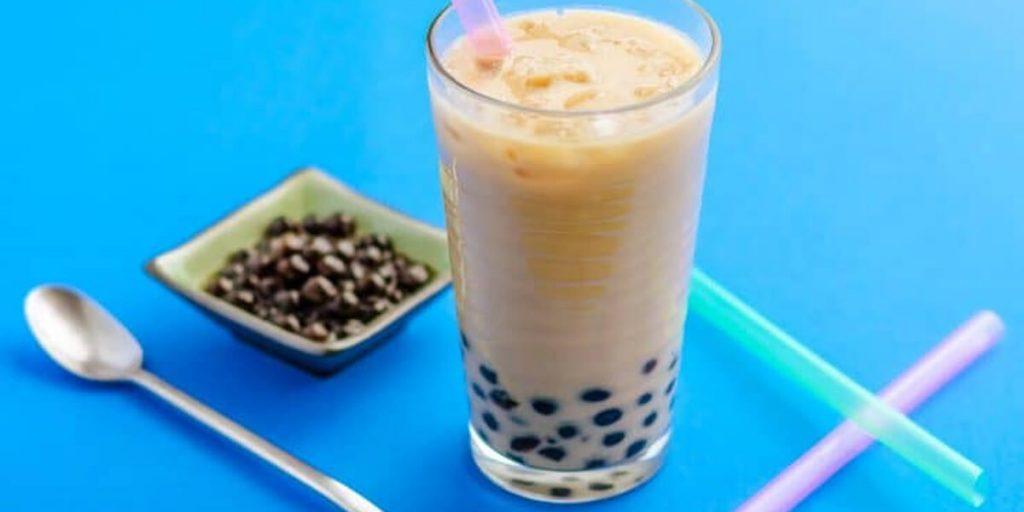 jasmine milk boba tea