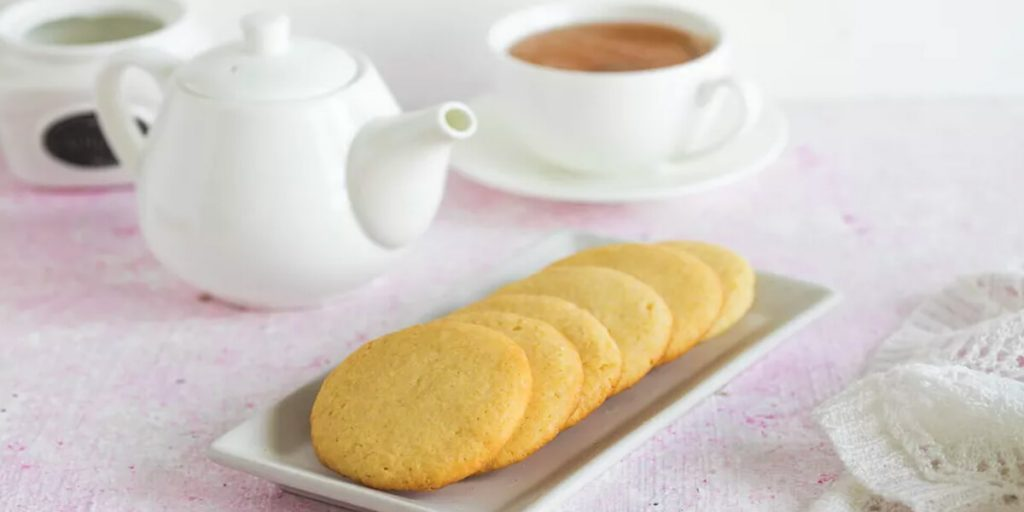 tea biscuits on a plate
