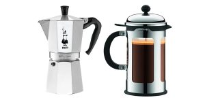 Two different coffee maker