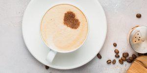cup of cappuccino foam