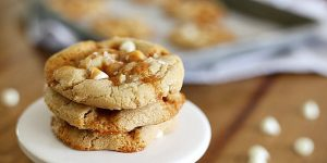 Caramel cookie with mallows