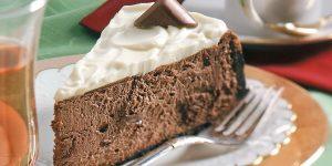 A slice of mocha cake