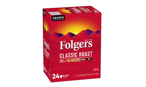 Folgers Classic Roast Keurig K-Cup Pods