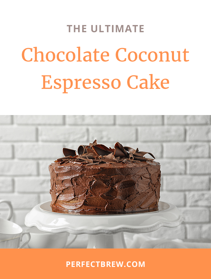 Chocolate Coconut Espresso Cake