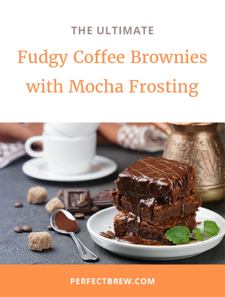 Fudgy Coffee Brownies with Mocha Frosting