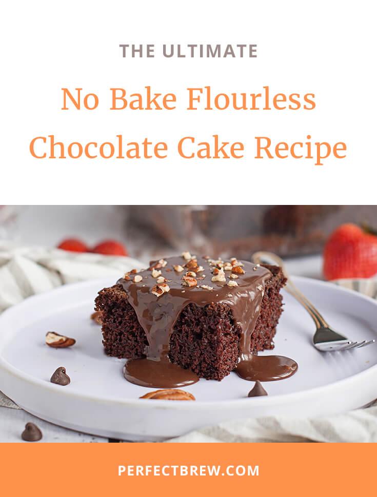 No Bake Flourless Chocolate Cake Recipe-2